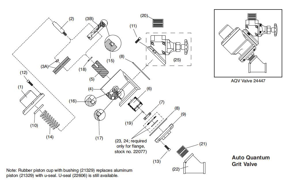 Seat, urethane, air valve, AQV