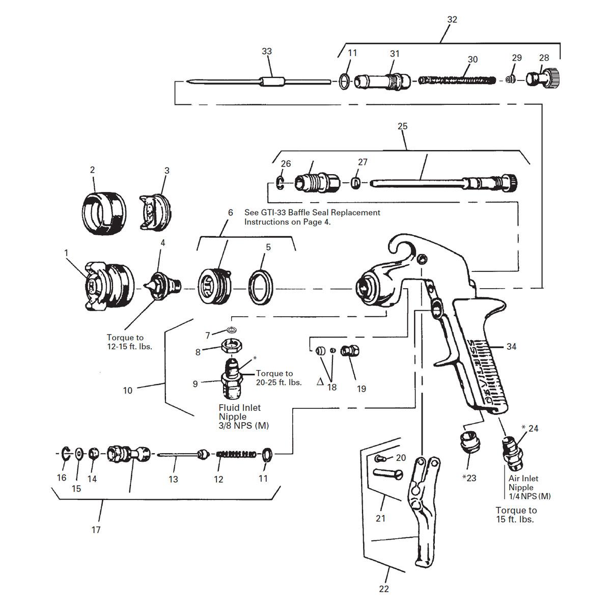 JGA spray gun, 30EX (1.8)