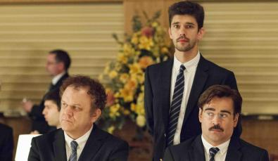 John C. Reilly, Ben Whishaw and Colin Farrell look on awkwardly