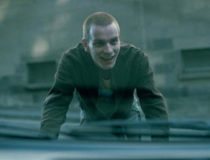 A younger Renton running from the law