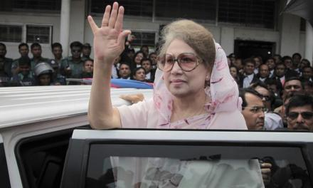 Bangladesh:  Ex-PM Khaleda Zia jailed for five years for graft.
