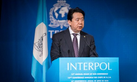 China: Head of Interpol Meng Hongwei accused of corruption.