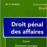 livre Sordino Droit pénal des affaires Cours et exercices corrigés t