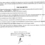 RANARISON Tsilavo NEXTHOPE le dispositif du jugement du tribunal correctionnel d'Antananarivo du 15 décembre 2015