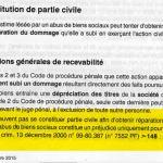 RANARISON Tsilavo conditiond de recevabilité de l'action civile d'après le livre thèmexpress abus de biens sociauc éditions Francis Lefebvre