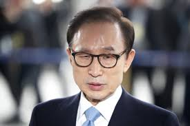 South Korea:  Former president Lee Myung Bak on bribery charges in court