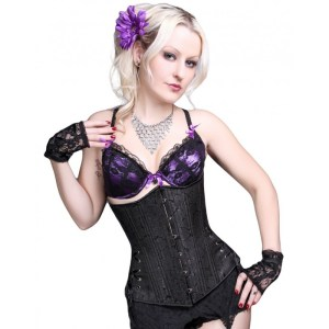 Timeless-Trends-Gentle-Black-Floral-Long-Corset