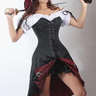 Pirate Fashions Corset Dress overbust graded skirt