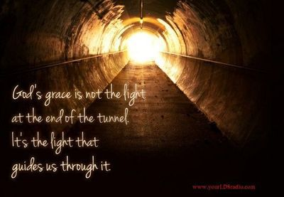 Light at the end of a round tunnel