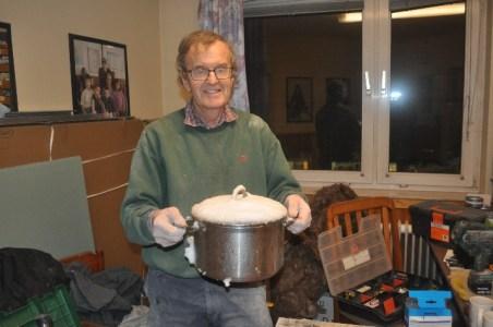 Paul with large saucepan