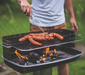 Man with barbecue