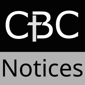 CBC logo notices in greyscale