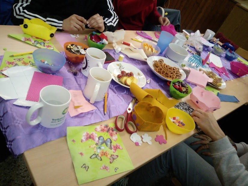 One of our colourful 'craft and fellowship' tables at Ladies Night on Friday