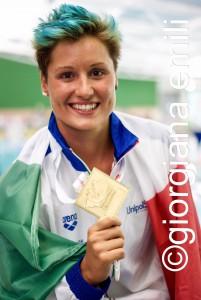 Silvia Meschiari con l'oro del super foto Giorgiana Emili