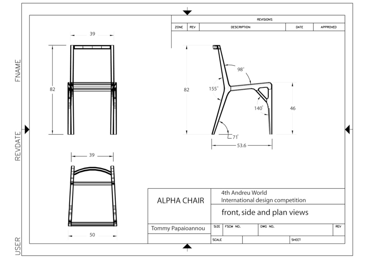 Chair Blueprints Corso 3d