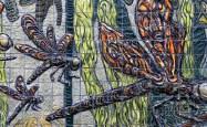 "Xavier Cortada, ""Odonata (detail),"" ceramic, 2013"