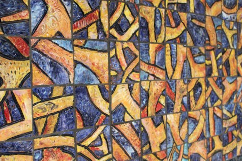 "Xavier Cortada, ""Entangled,"" ceramic, 2013"