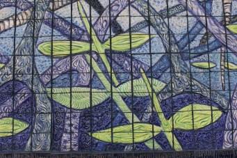 "Xavier Cortada, ""Seedlings (detail),"" ceramic, 2013"