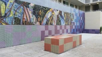 "Xavier Cortada, ""Mangrove Cove,"" ceramic and glass mosaic, 2013"