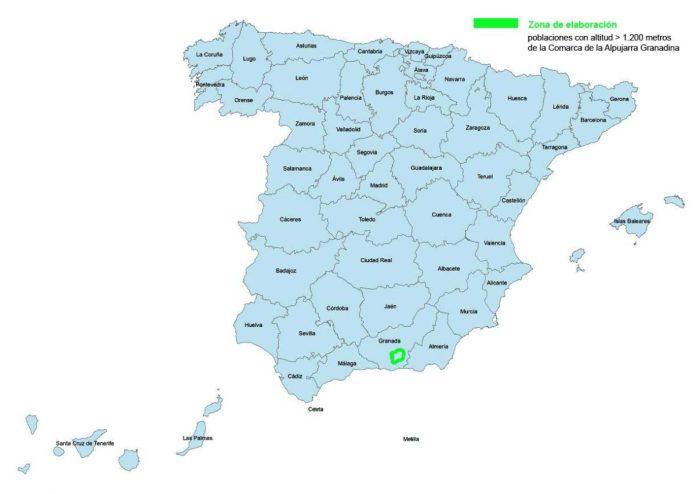 Provincias IGP Jamon de Trevelez