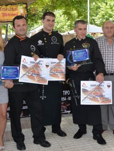 Ganadores del I Concurso de Cortadores de Jamón de Albolote