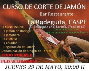 Taller de corte de jamón en Caspe (Zaragoza)