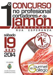 Concurso de corte de jamón en Ponteareas