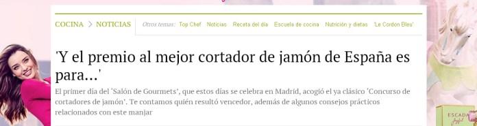¿ Cuantos campeones de España de corte de jamón hay ?