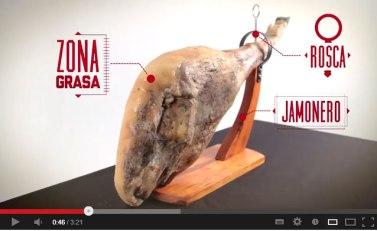 Video sobre el jamón con algunos errores
