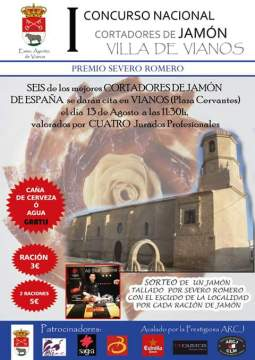 I Concurso Nacional de cortadores de jamón Villa de Vianos