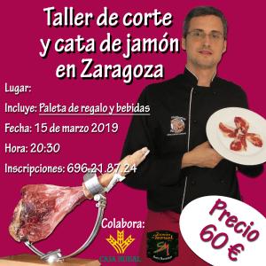 Curso taller de corte de jamón en Zaragoza