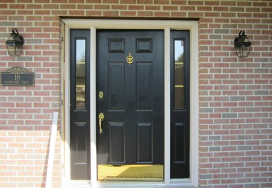 Black Entry Doors With Sidelights