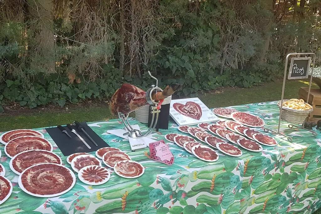 Cortador profesional de jamón para bodas y celebraciones