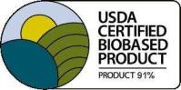 USDA Certified Biobased Product 91%