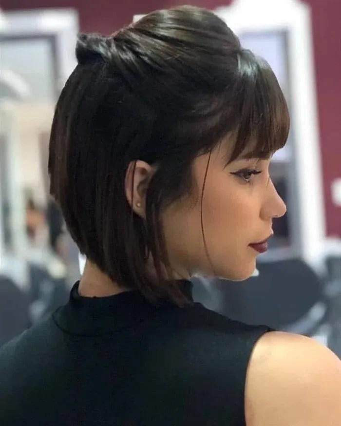 cabelo curto com pontas na frente