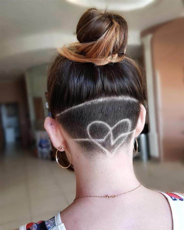 undercut feminino coração