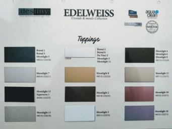 DESTINY EDELWEISS muestrario metales