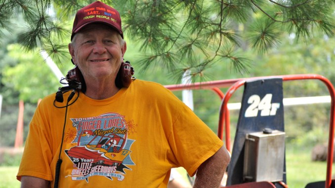 After starting out as a microd driver 50 summers ago, Finger Lakes Microd Club president A.J. Burgess was honored this past Saturday at his track in Freeville.