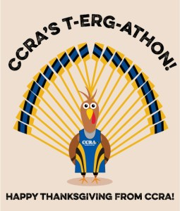 Thanksgiving Day T-Erg-athon, Thursday, 11/28, 7am-10am @ CCRA Indoors