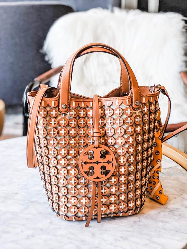 Tory Burch Miller Leather Chainmail Bucket Bag