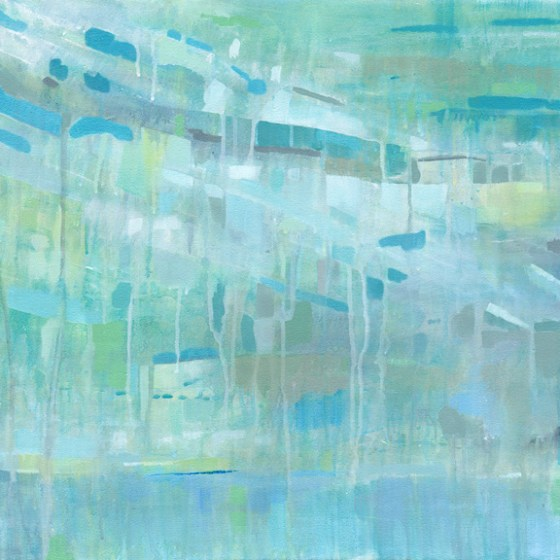 Caribbean Holiday by Cortney North, coastal abstract art