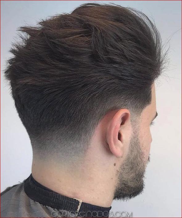 Razor part and mid haircut. 56 Taper Fade Cortes de pelo al borde de los estilos ...