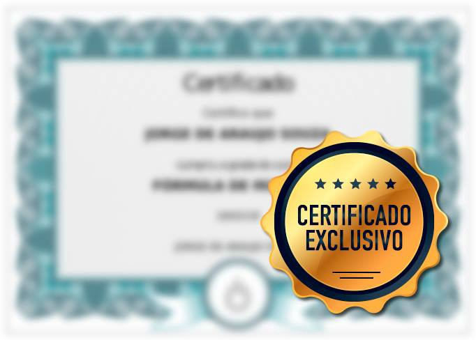 certificado formula de mixagem