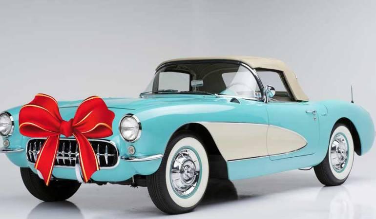 1957 Convertible Corvette Light Blue