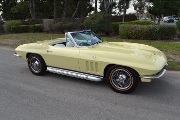 1965 Goldwood Yellow L79 Corvette Convertible