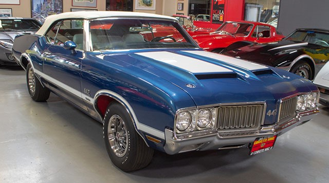 1970 Twilight Blue Oldsmobile 442 W30 Convertible