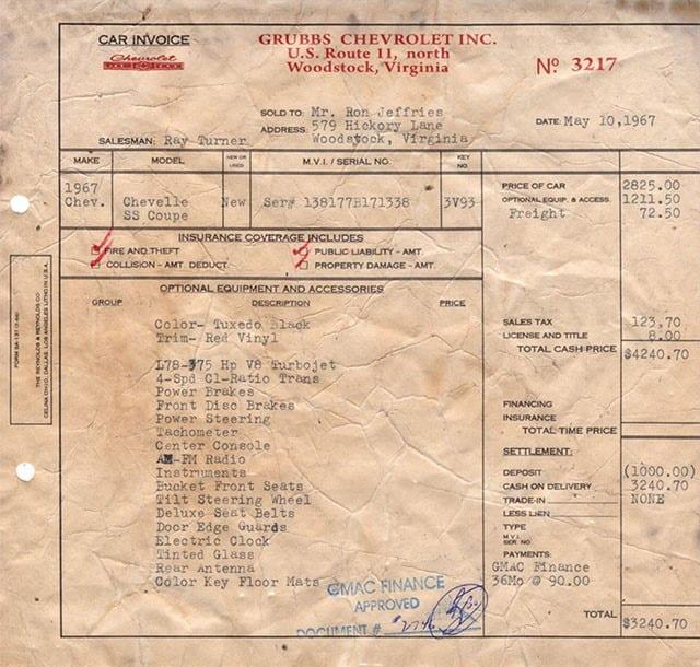 1967 Chevelle SS