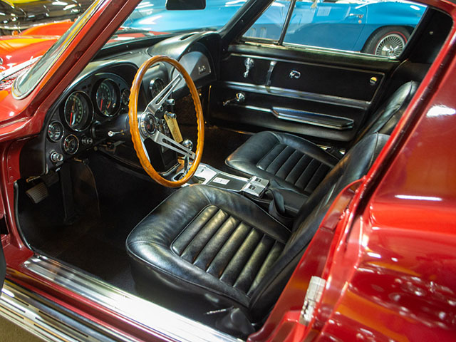 1966 Maroon Corvette L72 Coupe Interior