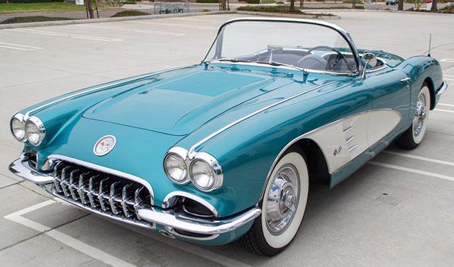 1958 turqoise corvette exterior 1