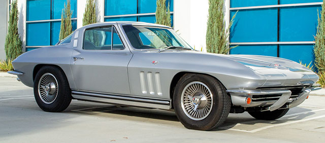 1965 silver l79 corvette coupe side